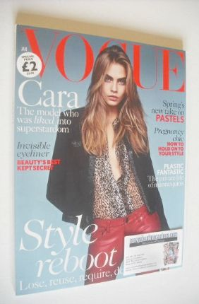 <!--2014-01-->British Vogue magazine - January 2014 - Cara Delevingne cover