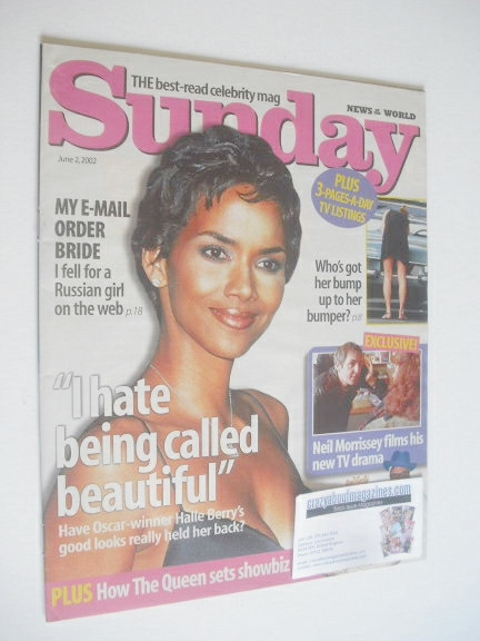 <!--2002-06-02-->Sunday magazine - 2 June 2002 - Halle Berry cover