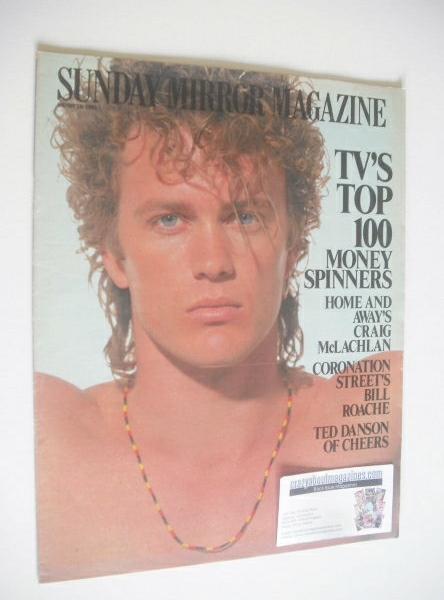 <!--1991-08-18-->Sunday Mirror magazine - Craig McLachlan cover (18 August