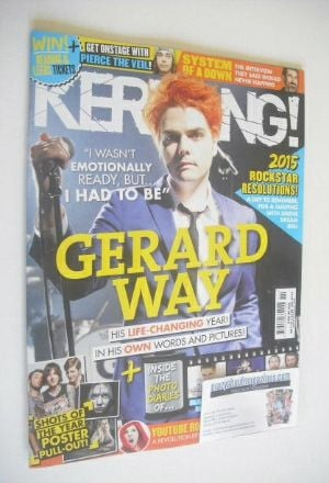 <!--2015-01-03-->Kerrang magazine - Gerard Way Issue (3 January 2015 - Issu