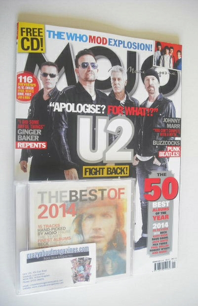 <!--2015-01-->MOJO magazine - U2 cover (January 2015)