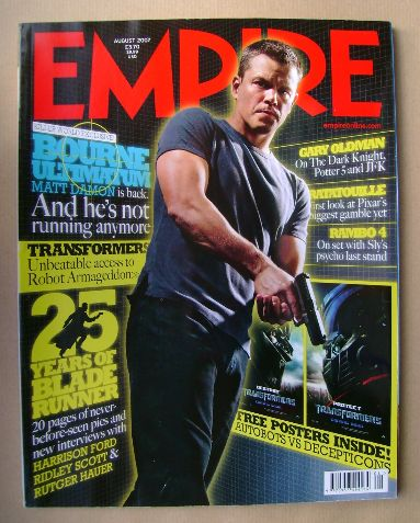 <!--2007-08-->Empire magazine - Matt Damon cover (August 2007 - Issue 218)