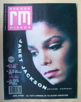 Record Mirror magazine - Janet Jackson cover (18 November 1989)