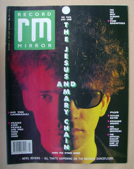 <!--1989-11-25-->Record Mirror magazine - The Jesus And Mary Chain cover (2