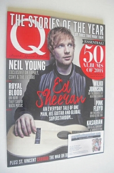 Q magazine - Ed Sheeran cover (January 2015)