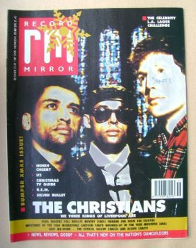 Record Mirror magazine - The Christians cover (23/30 December 1989)