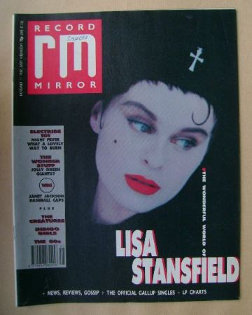 <!--1989-11-11-->Record Mirror magazine - Lisa Stansfield cover (11 Novembe