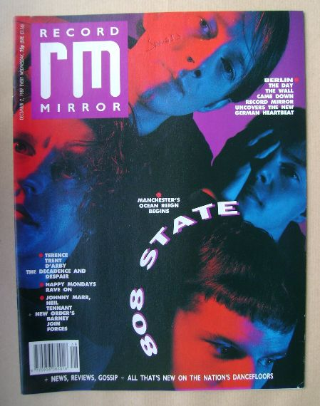 <!--1989-12-02-->Record Mirror magazine - 808 State cover (2 December 1989)