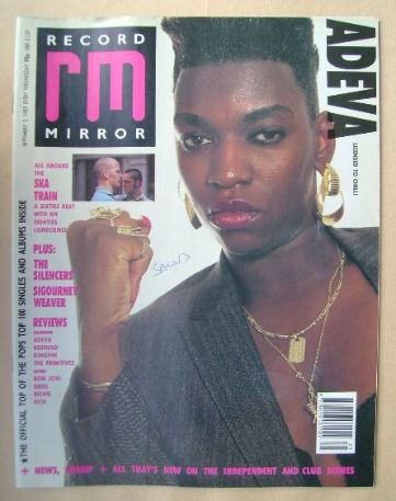 <!--1989-09-02-->Record Mirror magazine - Adeva cover (2 September 1989)