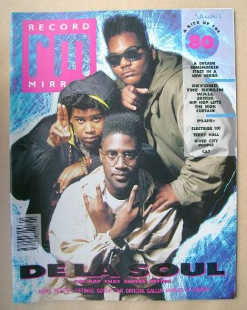 <!--1989-11-04-->Record Mirror magazine - De La Soul cover (4 November 1989