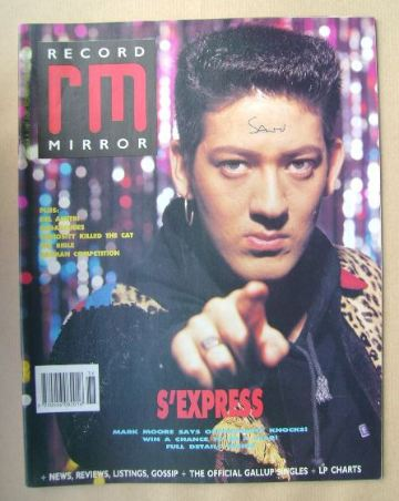 <!--1989-09-09-->Record Mirror magazine - Mark Moore cover (9 September 198