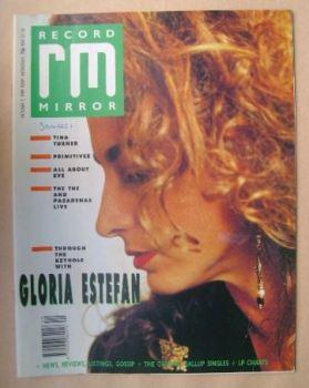Record Mirror magazine - Gloria Estefan cover (7 October 1989)