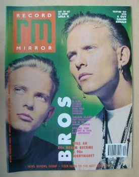 Record Mirror magazine - Matt Goss and Luke Goss cover (16 December 1989)