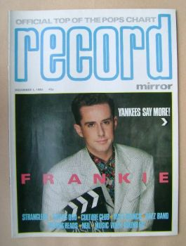 Record Mirror magazine - Holly Johnson cover (1 December 1984)