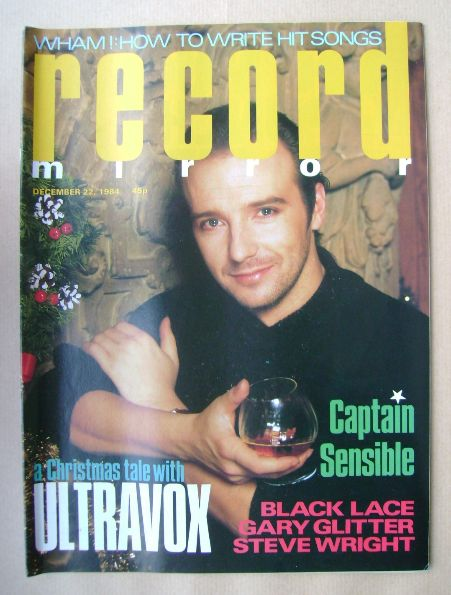 <!--1984-12-22-->Record Mirror magazine - Midge Ure cover (22 December 1984