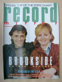 Record Mirror magazine - Paul Usher and Shelagh O'Hara cover (29 December 1984)