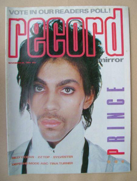<!--1984-11-24-->Record Mirror magazine - Prince cover (24 November 1984)