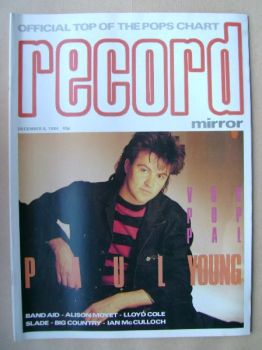 Record Mirror magazine - Paul Young cover (8 December 1984)