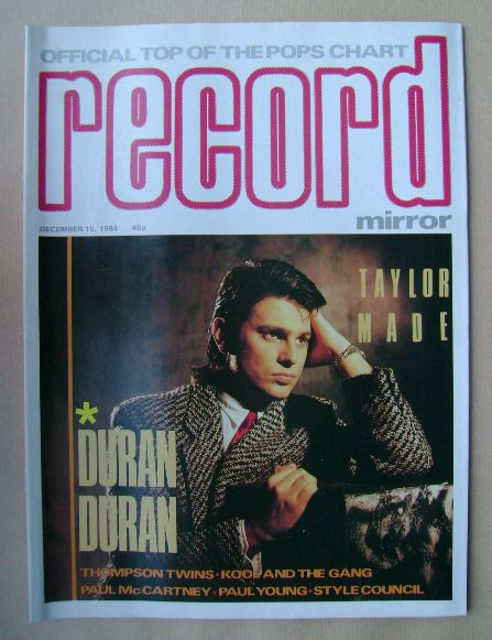 <!--1984-12-15-->Record Mirror magazine - Roger Taylor (Duran Duran) cover