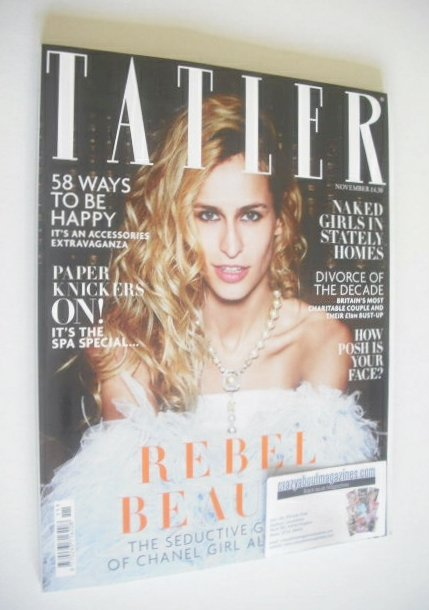 <!--2014-11-->Tatler magazine - November 2014 - Alice Dellal cover