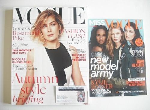 <!--2014-10-->British Vogue magazine - October 2014 - Rosamund Pike cover