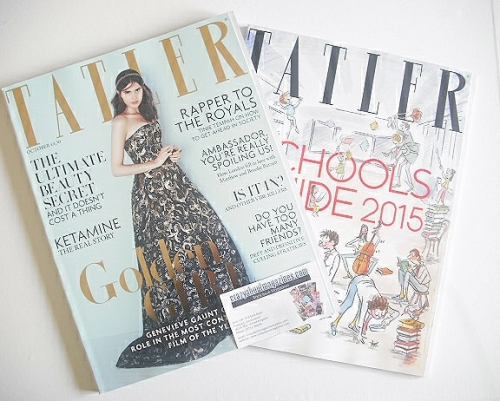 <!--2014-10-->Tatler magazine - October 2014 - Genevieve Gaunt cover