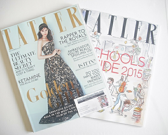 <!--2014-10-->Tatler magazine - October 2014 - Genevieve Gaunt cover