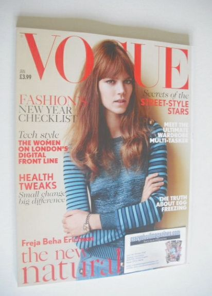 <!--2015-01-->British Vogue magazine - January 2015 - Freja Beha Erichsen c