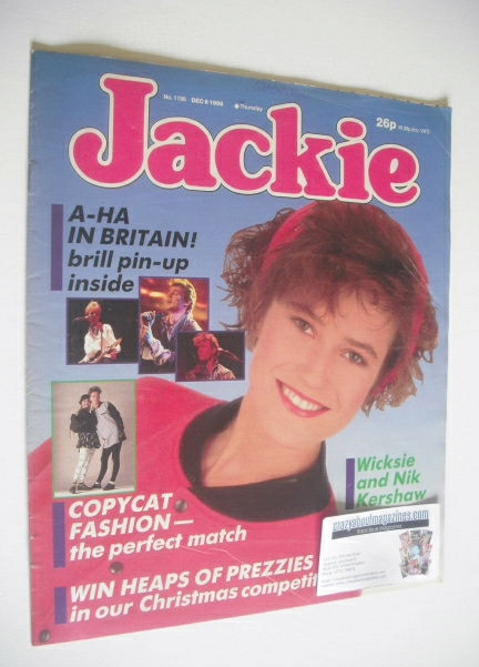 <!--1986-12-06-->Jackie magazine - 6 December 1986 (Issue 1196)