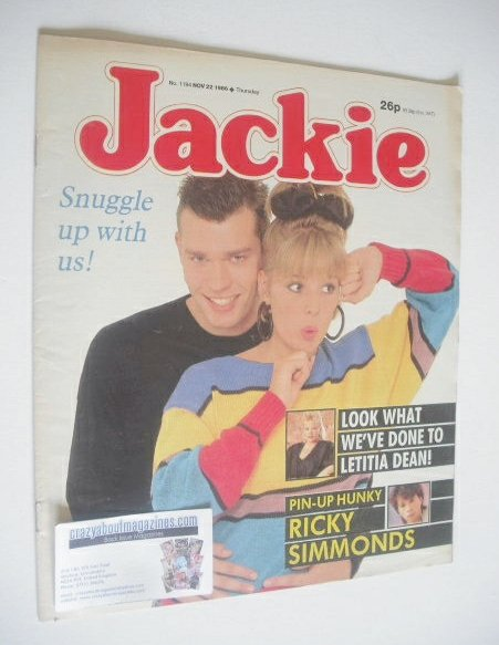 <!--1986-11-22-->Jackie magazine - 22 November 1986 (Issue 1194)