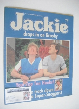 Jackie magazine - 30 August 1986 (Issue 1182 - Simon O'Brien and Jason Hope cover)
