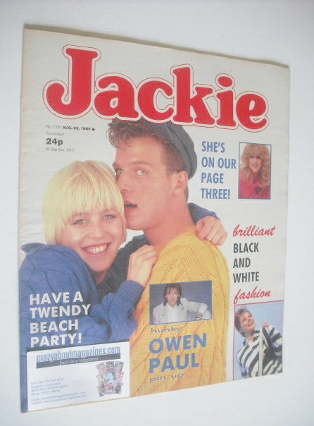 <!--1986-08-23-->Jackie magazine - 23 August 1986 (Issue 1181)