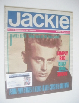 Jackie magazine - 14 December 1985 (Issue 1145 - James Dean cover)