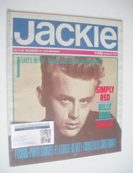 <!--1985-12-14-->Jackie magazine - 14 December 1985 (Issue 1145 - James Dea