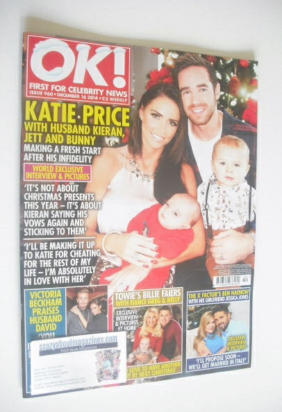 <!--2014-12-16-->OK! magazine - Katie Price, Kieran Hayler and family cover