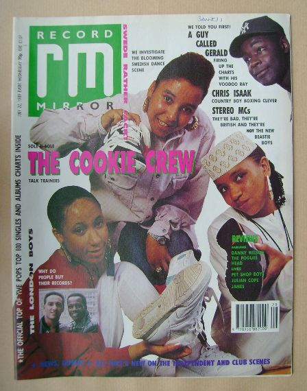 <!--1989-07-22-->Record Mirror magazine - The Cookie Crew cover (22 July 19