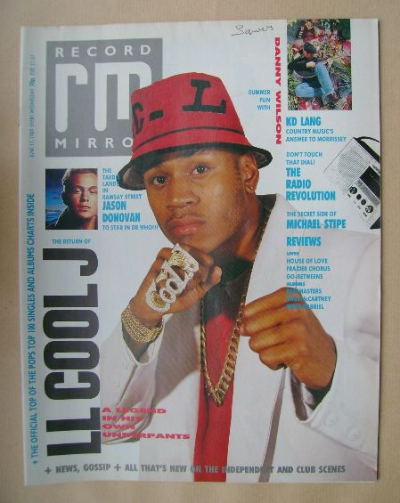 <!--1989-06-17-->Record Mirror magazine - LL Cool J cover (17 June 1989)