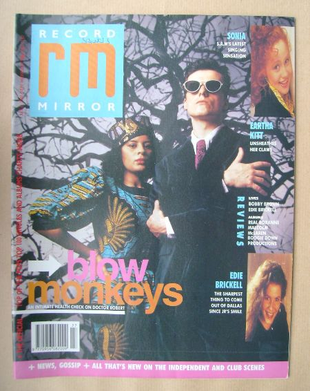 <!--1989-07-08-->Record Mirror magazine - 8 July 1989