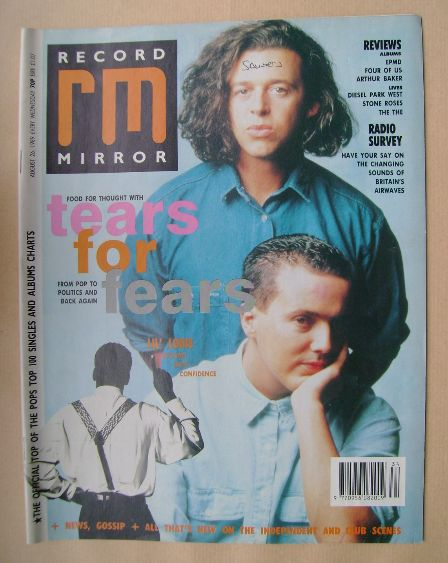 <!--1989-08-26-->Record Mirror magazine - Tears For Fears cover (26 August