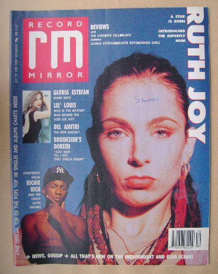 <!--1989-07-29-->Record Mirror magazine - Ruth Joy cover (29 July 1989)