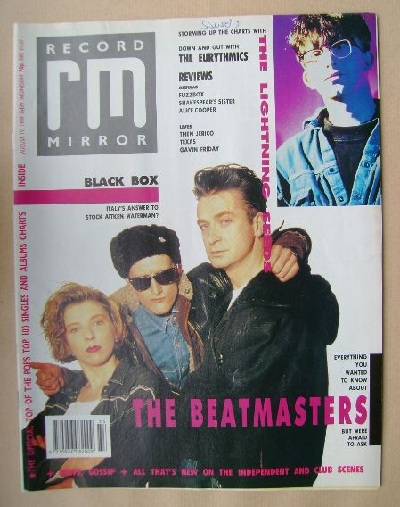 <!--1989-08-19-->Record Mirror magazine - The Beatmasters cover (19 August