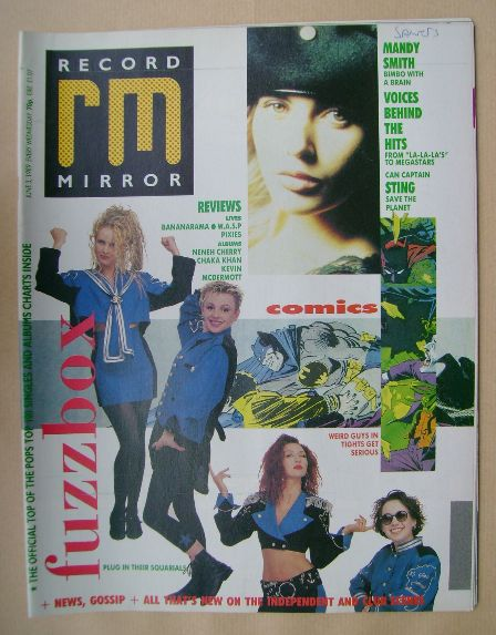 <!--1989-06-03-->Record Mirror magazine - 3 June 1989