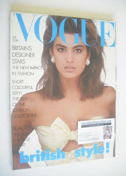 <!--1987-02-->British Vogue magazine - February 1987 - Cindy Crawford cover