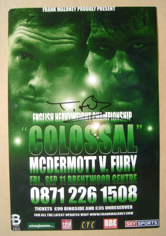 Tyson Fury autograph (hand-signed promotional card)