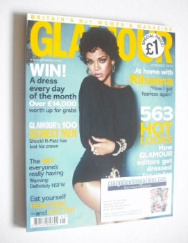 Glamour magazine - Rihanna cover (January 2014)