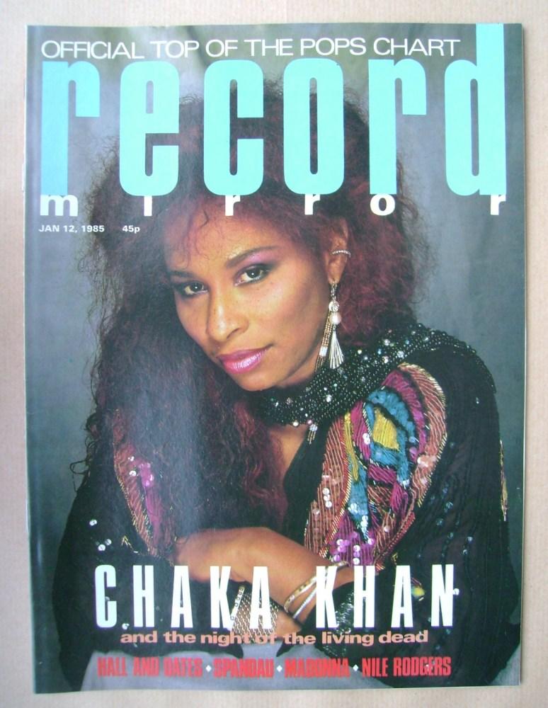 <!--1985-01-12-->Record Mirror magazine - Chaka Khan cover (12 January 1985