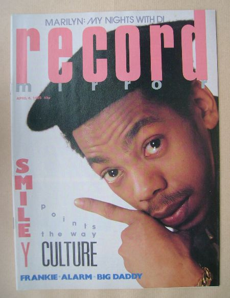 <!--1985-04-06-->Record Mirror magazine - Smiley Culture cover (6 April 198