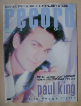Record Mirror magazine - Paul King cover (13 April 1985)