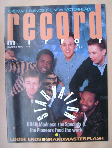 <!--1985-03-02-->Record Mirror magazine - 2 March 1985