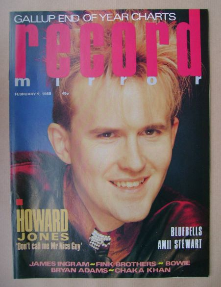 <!--1985-02-09-->Record Mirror magazine - Howard Jones cover (9 February 19